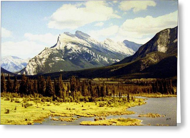 Rundle Greeting Cards - Majestic Mount Rundle Greeting Card by Will Borden