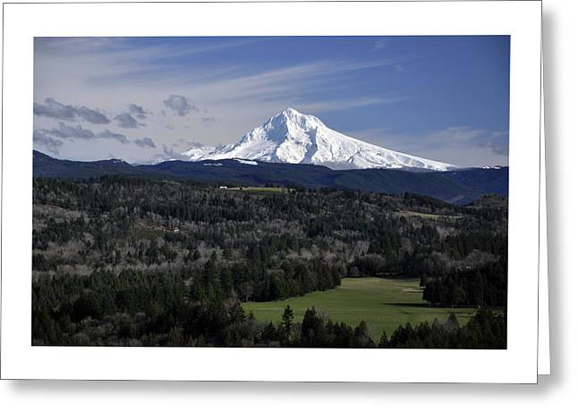 Majestic Mt Hood Greeting Card by Jim Walls PhotoArtist