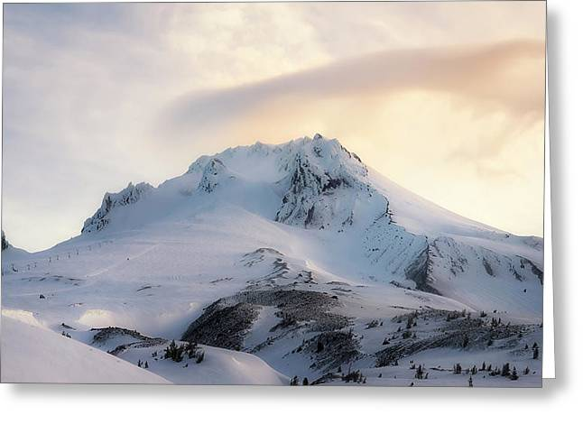 Majestic Mt. Hood Greeting Card by Ryan Manuel
