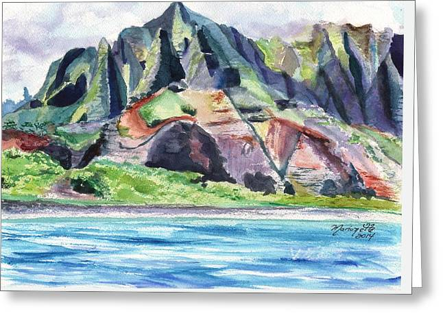 Majestic Na Pali Coast Greeting Card