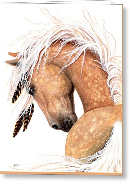 Majestic Palomino #139 Greeting Card by AmyLyn Bihrle