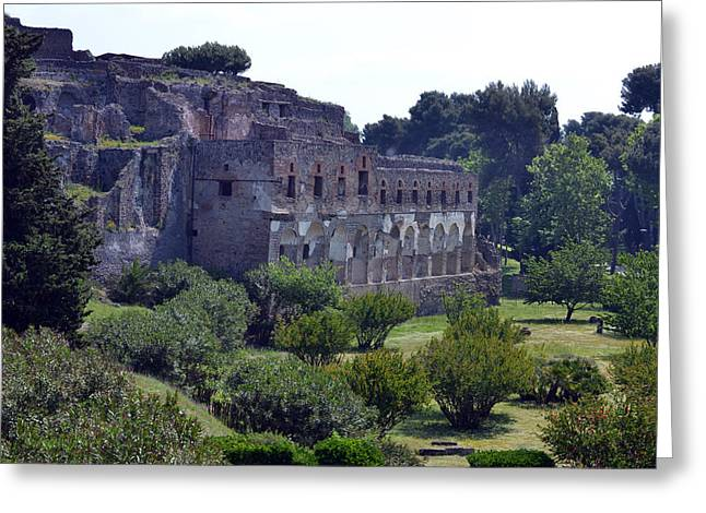 Naples Italy Greeting Cards - Majestic Pompeii Greeting Card by Terence Davis