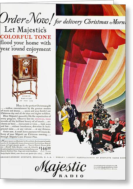 Grandson Greeting Cards - Majestic Radio Ad, 1929 Greeting Card by Granger