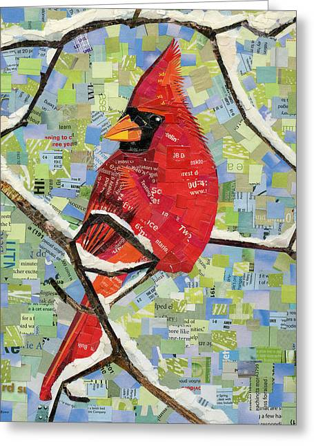 Majestic Red Cardinal  Greeting Card