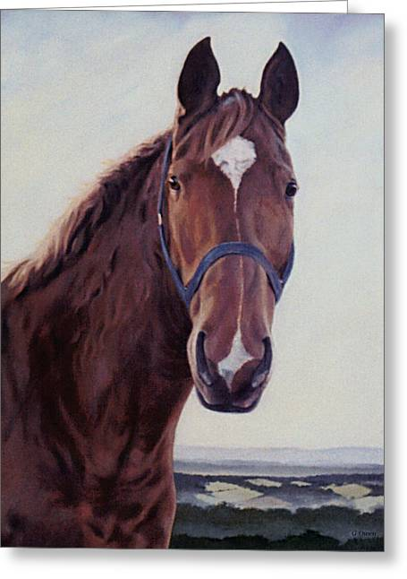 Greeting Card featuring the painting Majestic Roger by Gillian Owen