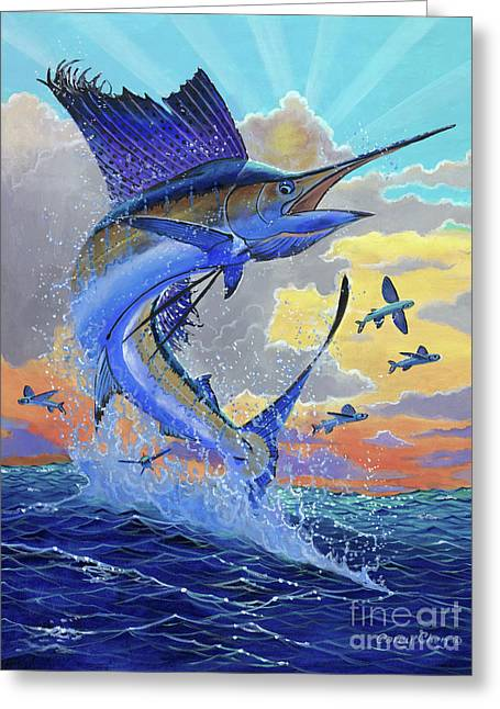 Majestic Sail Greeting Card by Carey Chen