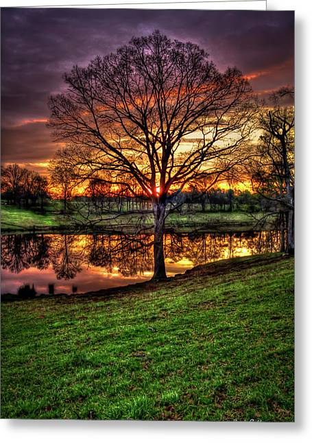 Greeting Card featuring the photograph Majestic Sunrise Reflections by Reid Callaway