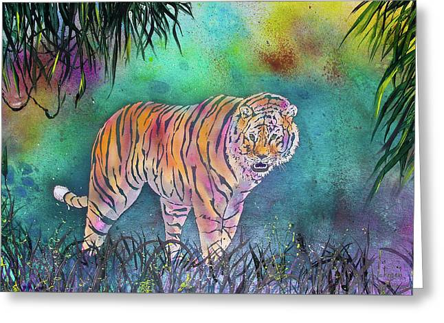 Majestic Tiger Greeting Card by Larry  Johnson