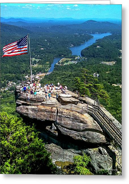 Majestic View Chimney Rock North Carolina Greeting Card by Reid Callaway
