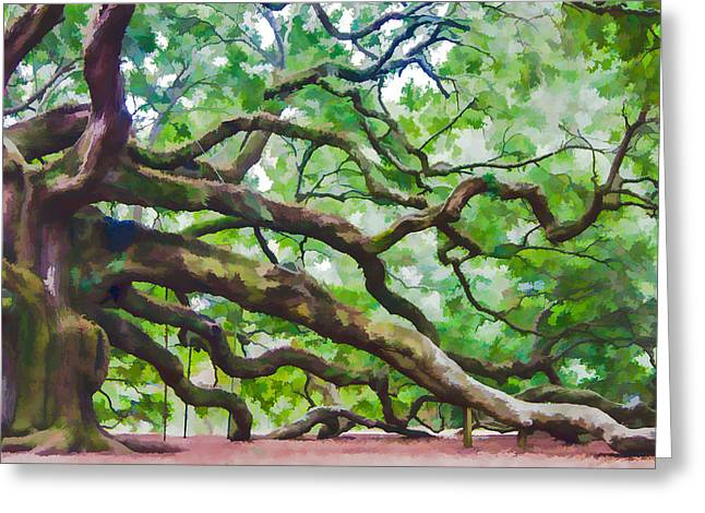 Majesty - The Angel Oak Greeting Card