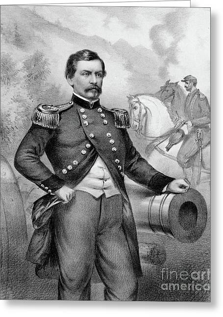 Major General George B Mcclellan Greeting Card by American School