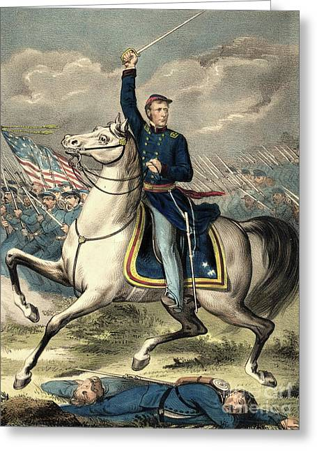 Major General Joseph Hooker Greeting Card by American School