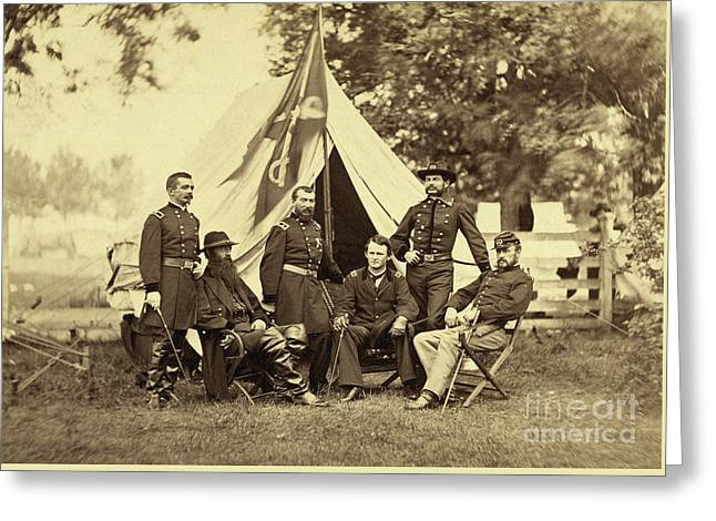 Major General Philip Sheridan And His Generals Greeting Card