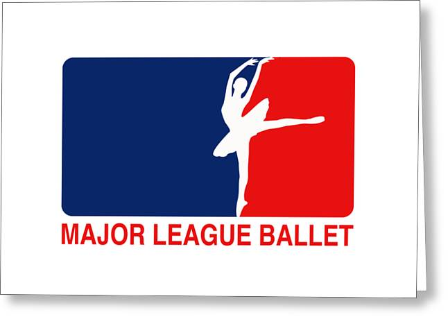 Major League Ballet Greeting Card by Nancy Ingersoll