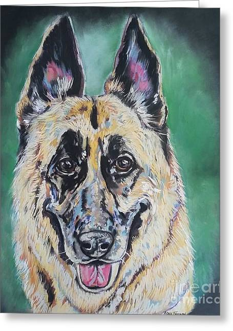Major, The German Shepherd  Greeting Card