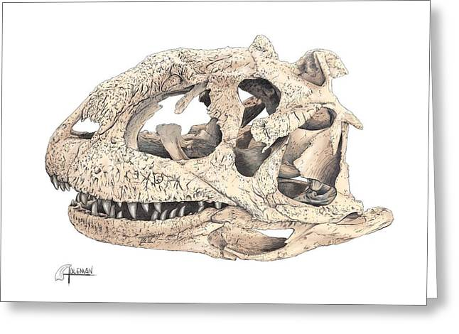 Majungasaur Skull Greeting Card