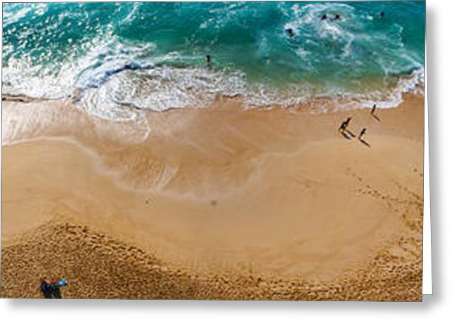 Makaha Beach Panorama Greeting Card