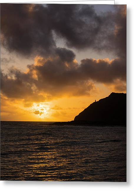 Makapuu Point Lighthouse Sunrise Greeting Card