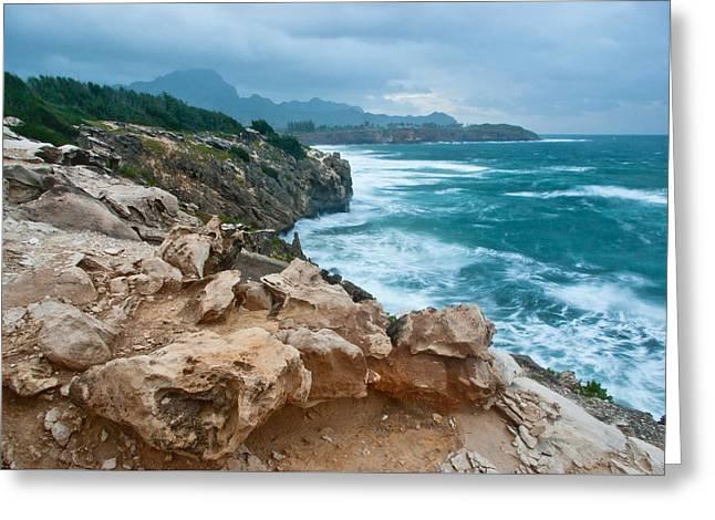 Makawehi Lithified Cliffs Greeting Card