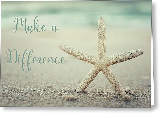 Make A Difference Starfish Vintage Set 2 Greeting Card
