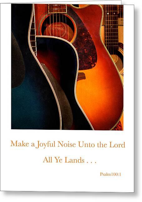 Make A Joyful Noise Greeting Card by Linda Merkel