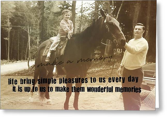 Make A Memory Quote Greeting Card by JAMART Photography