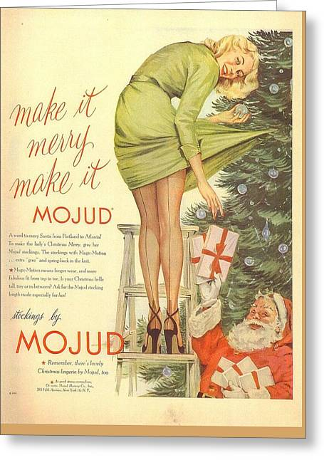 Greeting Card featuring the digital art Make It Merry...make It Mojud by Reinvintaged