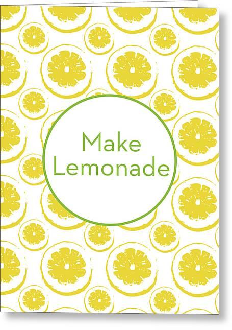 Make Lemonade 3- Art By Linda Woods Greeting Card