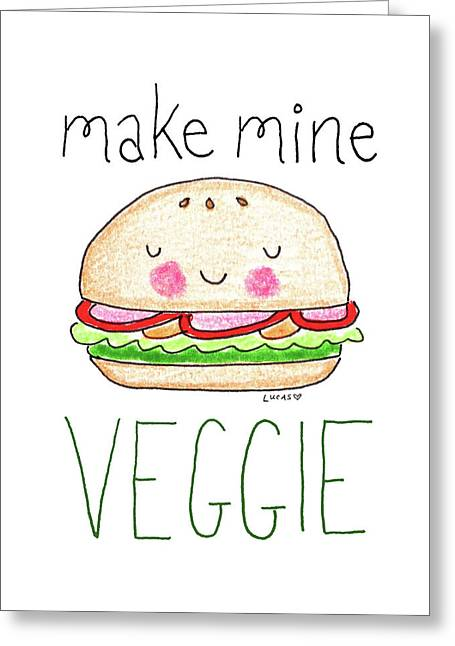 Make Mine Veggie Greeting Card by Ashley Lucas