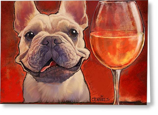 Make Time For Wine Greeting Card by Sean ODaniels