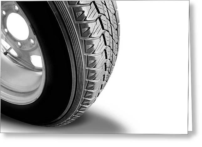 Make Tyre Tracks Greeting Card
