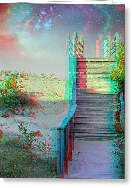 Make Your Own Heaven - Use Red-cyan 3d Glasses Greeting Card by Brian Wallace