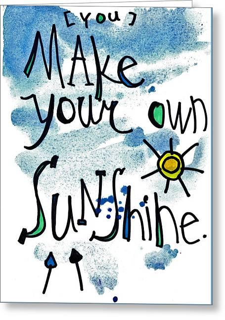 Make Your Own Sunshine Greeting Card