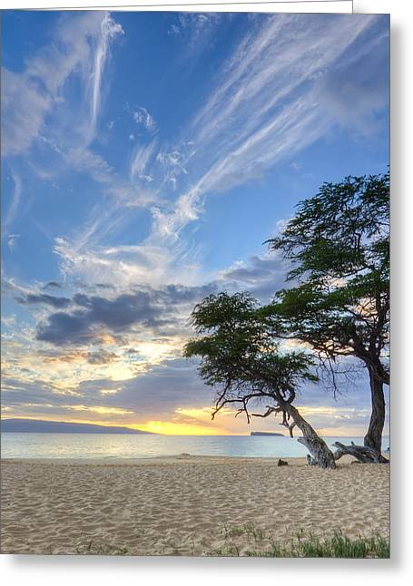 ; Maui Greeting Cards - Makena Beach Maui Hawaii Sunset 2 Greeting Card by Dustin K Ryan