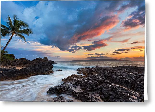 Makena Cove Sunset Greeting Card by Thorsten Scheuermann