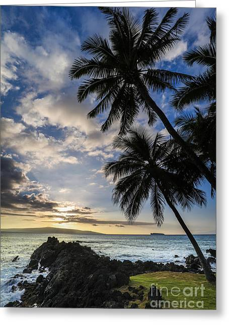 Makena Maui Hawaii Sunset Greeting Card by Dustin K Ryan