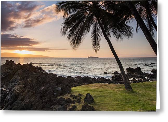Makena Sunset Maui Hawaii Greeting Card