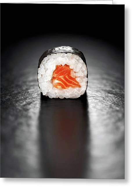 Maki Sushi Roll With Salmon Greeting Card