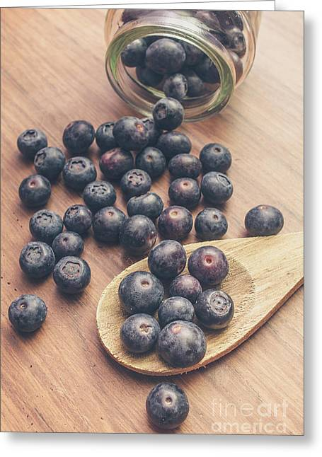 Making Blueberry Jam Greeting Card by Jorgo Photography - Wall Art Gallery