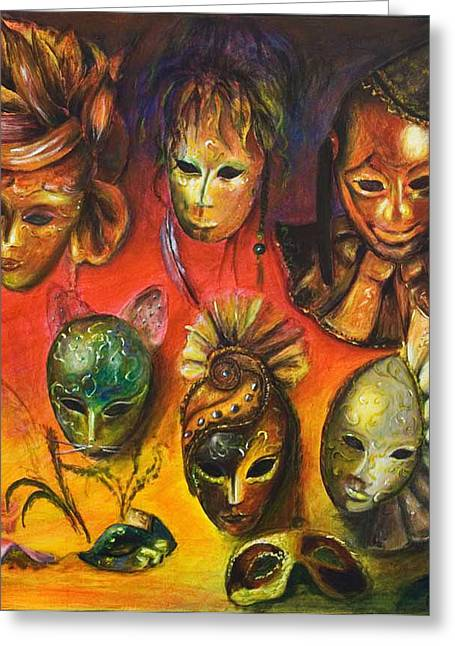 Making Faces IIi Greeting Card