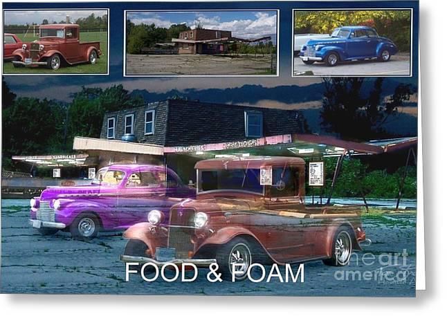 Making Of Food And Foam Greeting Card by Tom Straub