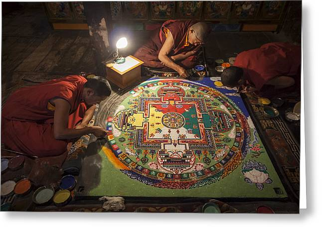 Making Of Mandala Greeting Card