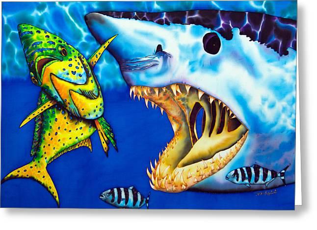 Mako Shark - Salt Water Game Fish Greeting Card by Daniel Jean-Baptiste