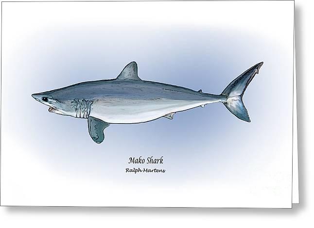 Mako Shark Greeting Card by Ralph Martens