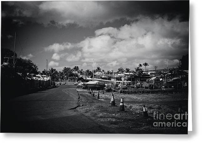 Greeting Card featuring the photograph Mala Wharf Ala Moana Street Lahaina Maui Hawaii by Sharon Mau