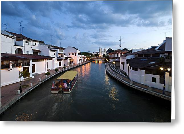 Malacca River Greeting Card