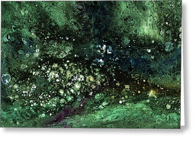 Malachite- Abstract Art By Linda Woods Greeting Card