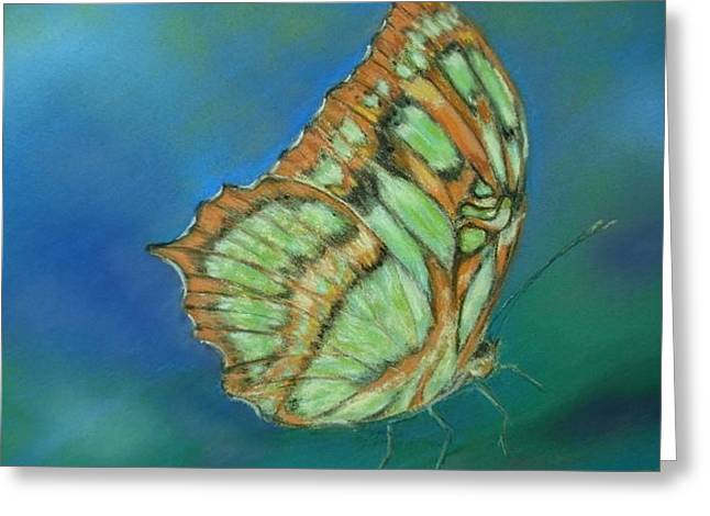 Greeting Card featuring the painting Malachite by Ceci Watson