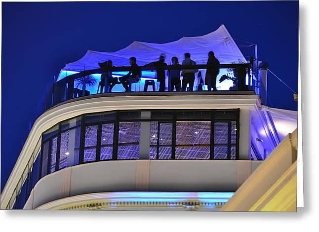 Malaga - Costa Del Sol - Andalucia - Spain - Rooftop Bar Greeting Card by Carlos Alkmin