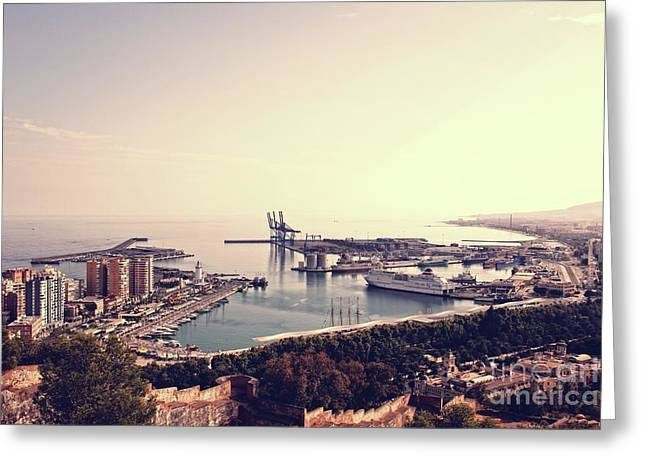 Malaga Harbor Greeting Card